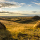 Sunset at Red rock coulee in Alberta, Canada