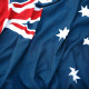 Australian Flag full frame, close up